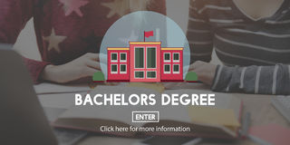 Academic College Bachelor Degree Admission Concept Stock Photo