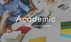 Academic College Degree Education Learning Concept Stock Image