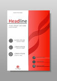 Academic cover design. Conferences, reports, journals. Vector. Red A4 Business Book Cover Design Template. Good for Portfolio, Brochure, Annual Report, Flyer Royalty Free Stock Photo