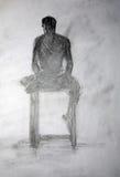 Academic de People.Drawing Imagem de Stock Royalty Free