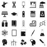 Academic degree icons set, simple style Stock Image