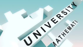 Academic Degree words animated with cubes Stock Photography