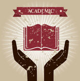 Academic. Design over beige background vector illustration Stock Image