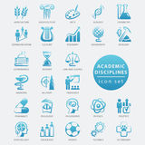 Academic disciplines icon. Academic disciplines  icon set, vector illustration Royalty Free Stock Photography