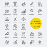 Academic disciplines icon. Academic disciplines  icon set, vector illustration Stock Images