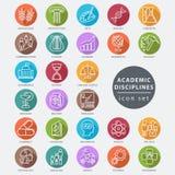 Academic disciplines icon. Academic disciplines  icon set, vector illustration Stock Photo
