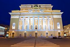 The academic drama theater of A.S. Pushkin Aleksandrinsky theate Stock Images