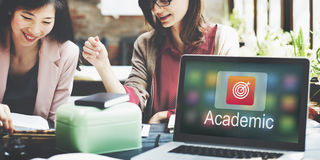 Academic E-Learning Education Online Application Concept Stock Photo