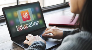 Academic E-Learning Education Online Application Concept Royalty Free Stock Photography