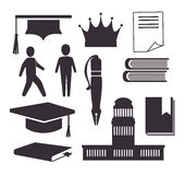Academic education design. Royalty Free Stock Image