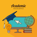 Academic education design. Royalty Free Stock Photo