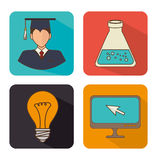 Academic education and elearning Royalty Free Stock Photo