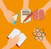 Academic education and elearning Royalty Free Stock Image