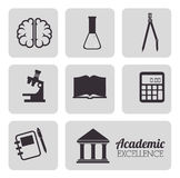 Academic education and elearning Stock Image