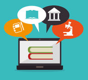 Academic education and elearning Stock Photo