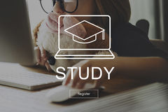 Academic Education Learning Wisdom Graphic Concept Royalty Free Stock Photos