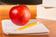 Academic education traditional student's desk Royalty Free Stock Photos
