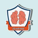 academic emblem design Royalty Free Stock Image