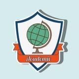 academic emblem design Stock Image