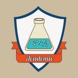 academic emblem design Stock Photo