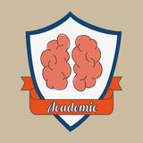 academic emblem design Royalty Free Stock Photography