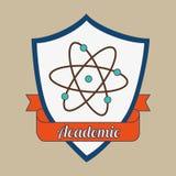 Academic emblem design. Illustration eps10 graphic Stock Images