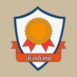 Academic emblem design. Illustration eps10 graphic Royalty Free Stock Photo