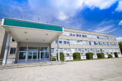 Academic Government Building. Public School or Hospital Building in Eastern Europe Royalty Free Stock Photo