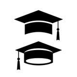 Academic graduation cap vector icon. S set Stock Photography