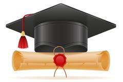 Academic graduation mortarboard square cap vector illustration Royalty Free Stock Photo