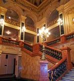 Academic Opera and Ballet Theatre. Interior of Solomiya Krushelnytska State Academic Opera and Ballet Theatre, Lviv, Ukraine Stock Photo