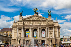 Academic Opera and Ballet Theatre in Lviv, Ukraine. Stock Photo