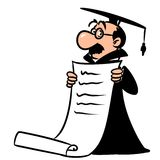Academic scientist diploma Royalty Free Stock Images