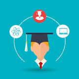 Academic student design. Illustration eps10 graphic Royalty Free Stock Images