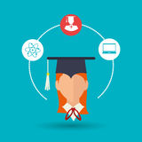 Academic student design. Illustration eps10 graphic Royalty Free Stock Image