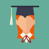 Academic student design. Illustration eps10 graphic Royalty Free Stock Photos