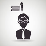 Academic student design. Illustration eps10 graphic Royalty Free Stock Photography