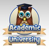 Academic university icon Royalty Free Stock Photo