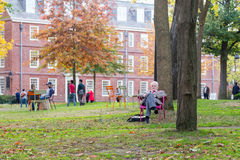 Academic Works in Harvard Yard Stock Photography