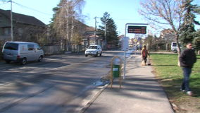 Academician Likhachev street on the outskirts of Sofia in Bulgaria stock footage