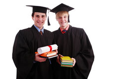 Academics. Portrait of a young people in an academic gown. Graduation. Education background Stock Image