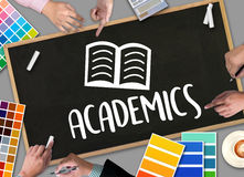 Academics to School Knowledge Teamwork Learning Training Academi. Cs Stock Photo
