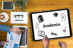 Academics to School Knowledge Teamwork Learning Training Academi. Cs Royalty Free Stock Photography
