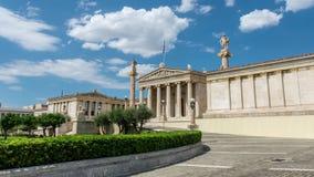 Academie van de tijdtijdspanne van Athene stock footage
