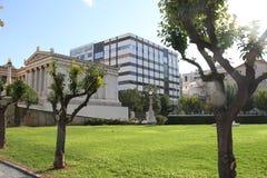 Academie van kunst, Nationale Bibliotheek, Bank van Griekenland, Athene, Greec Stock Afbeelding