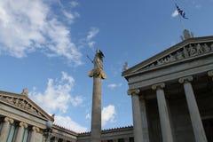 Academie van kunst, Nationale Bibliotheek, Bank van Griekenland, Athene, Greec Royalty-vrije Stock Afbeeldingen