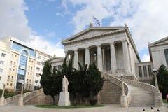Academie van kunst, Nationale Bibliotheek, Bank van Griekenland, Athene, Greec Stock Foto's