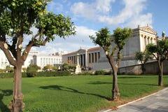 Academie van kunst, Nationale Bibliotheek, Bank van Griekenland, Athene, Greec Royalty-vrije Stock Foto's