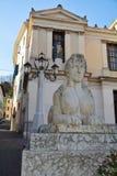 Academievierkant en Conegliano-stad, in Veneto, Italië Stock Foto's