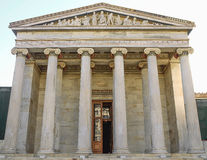 Columns classic. Academy of Athens with columns in classical style Stock Photo